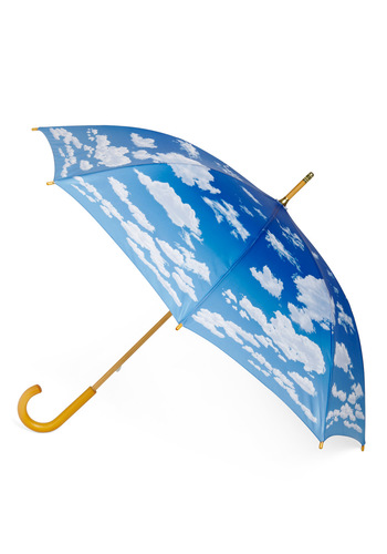 Cumulus Cutie Umbrella - Blue, White, Vintage Inspired, Statement, Quirky, Spring, Social Placements, Top Rated, 4th of July Sale