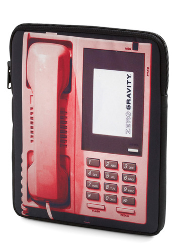 Set the Touch Tone iPad Sleeve - Pink, Black