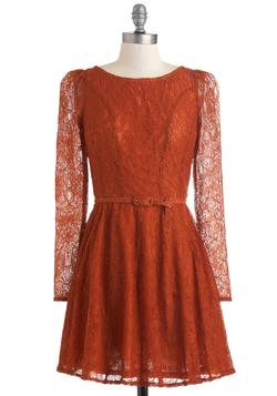 Flourish De Lis Dress in Cinnamon