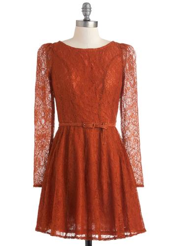 Flourish De Lis Dress in Cinnamon