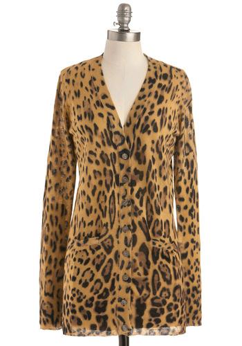 Running Wild Cardigan - Tan, Brown, Black, Animal Print, Buttons, Pockets, Casual, Long Sleeve, Button Down, V Neck