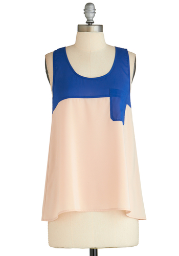 Sample 2305 - Pink, Blue, Pockets, Casual, Tank top (2 thick straps)