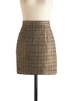 Glitz About That Time Skirt by BB Dakota - Short, Gold, Tan / Cream, Black, Party, A-line, Work, Vintage Inspired, 90s, Glitter
