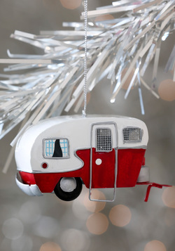 Mobile Home for the Holidays Ornament