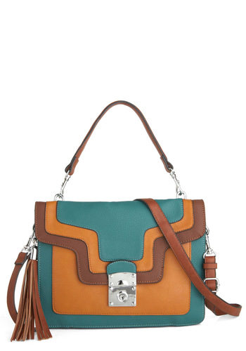 Guest on the Panel Bag by Melie Bianco - Faux Leather, Tan, Multi, Solid, Tassles, Casual, Vintage Inspired, Scholastic/Collegiate