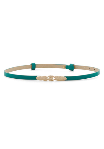 To Wear or Knot To Wear Belt in Aqua - Blue, Gold, Solid, Faux Leather, Variation