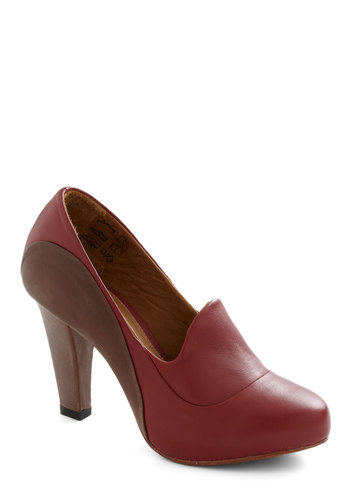 Designer In Chief Heel - Red, Solid, High, Leather, Work, Tis the Season Sale
