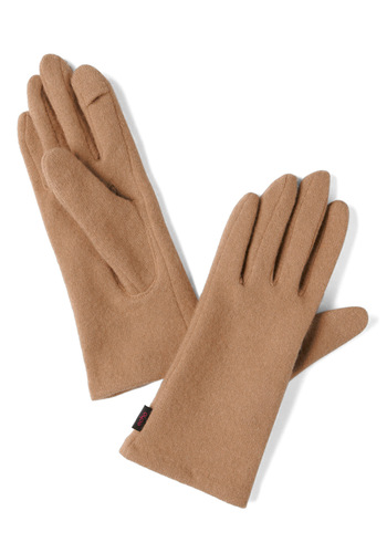 Looking Upgrade Gloves in Almond - Tan, Solid, Winter