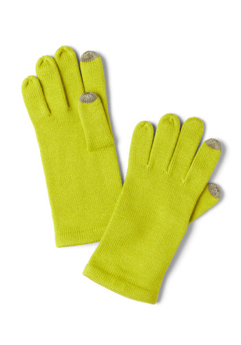 Tap into Beauty Gloves in Lime - Green, Solid, Winter, Neon, Holiday Sale