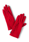 On the Silver Touchscreen Gloves in Red - Red, Solid, Ruffles, Winter