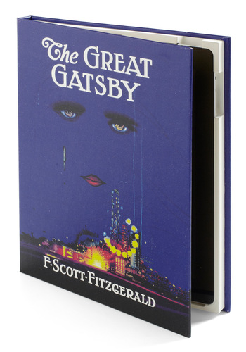 No Hardback Feelings iPad Case in Gatsby by Out of Print - Blue, Multi, Novelty Print, Scholastic/Collegiate, Vintage Inspired, 20s