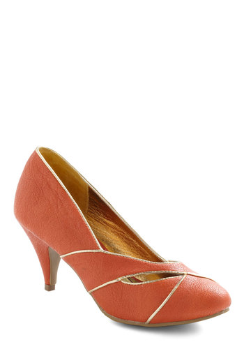 Mango Your Own Way Heel by Bait Footwear - Orange, Gold, Formal, Wedding