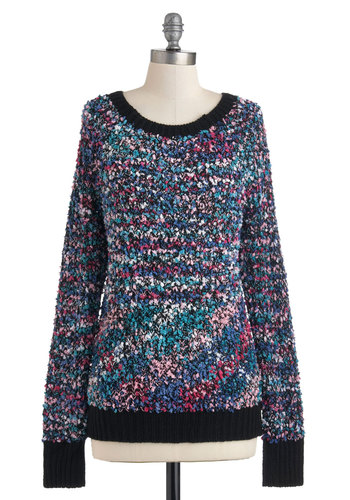 Host Impressionist Sweater - Mid-length, Multi, Knitted, Long Sleeve