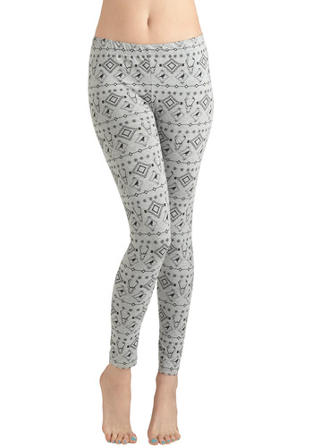 For Deer Life Leggings - Grey, Black, Casual, Fall, Long, International Designer
