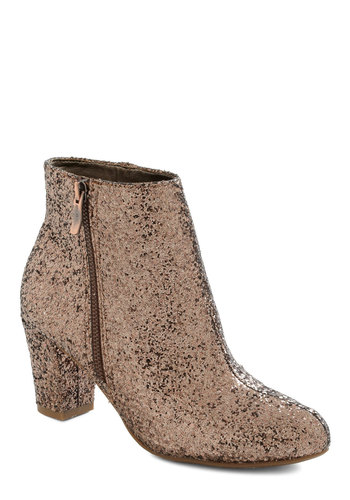 Ideal Dance Partner Bootie - Mid, Bronze, Glitter, Luxe, Statement, Party