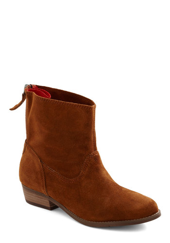 Casual Traveler Boot by Dolce Vita - Low, Leather, Suede, Tan, Solid, Casual, Rustic, Fall