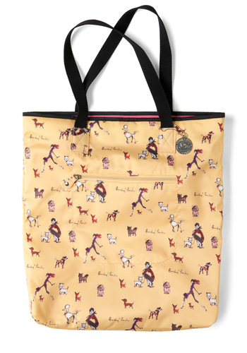 Canine to Five Bag - Cream, Multi, Print with Animals, Casual, Vintage Inspired, Pockets