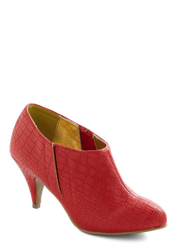 Future is Bold Bootie by Bait Footwear - Mid, Red, Solid, Party, Pinup, Vintage Inspired, Holiday Party