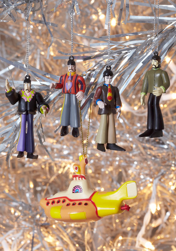 Singing a Happy Toon Ornament Set - Multi, Vintage Inspired, 60s, 70s, Dorm Decor, Quirky, Holiday