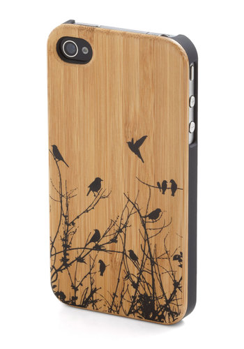 Pay a Bird Call iPhone Case - Tan, Black, Print with Animals