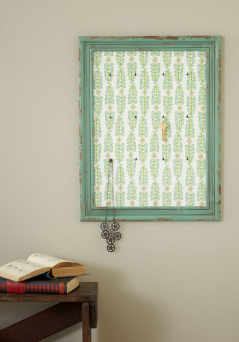 Frame of Radiance Jewelry Holder - Green, Dorm Decor, Blue, Tan / Cream, Floral, Tis the Season Sale, Mid-Century, Better, Top Rated