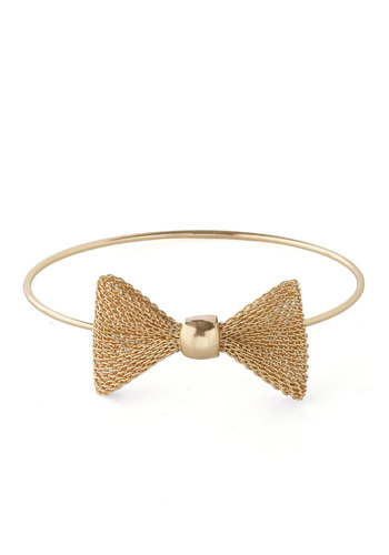 Time to Bow Bracelet - Gold, Bows, Party