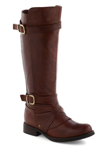 Saturday Afternoon Boot by Miz Mooz - Leather, Brown, Buckles, Flat, Menswear Inspired, Rustic