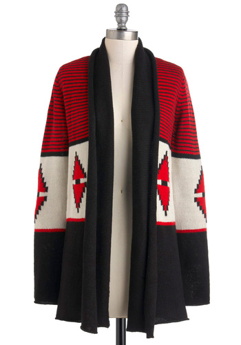 Spark Life Cardigan by BB Dakota - Red, Black, White, Long Sleeve, Fall