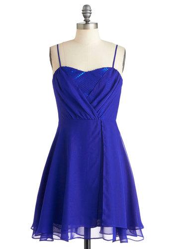 Evening Glamour Dress in Cobalt