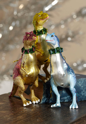 The Rex Is Yet to Come Ornament by One Hundred 80 Degrees - Holiday, Red, Yellow, Blue, Quirky