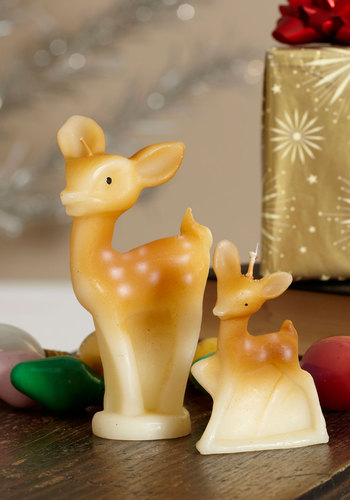 Glow, A Deer Candle Set by One Hundred 80 Degrees - Holiday, Tan, Print with Animals