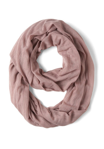 Come Full Circle Scarf in Mauve - Pink, Solid, Cotton