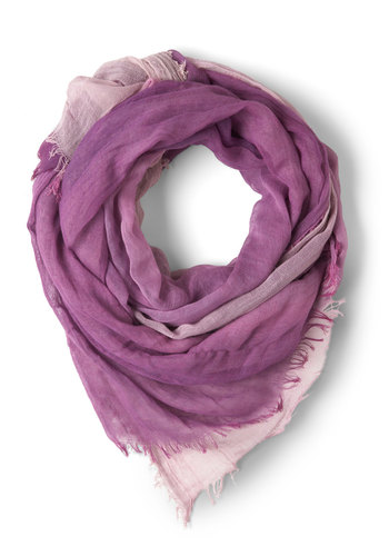 Grapes of Wrap Scarf - Sheer, Purple, Solid, Casual