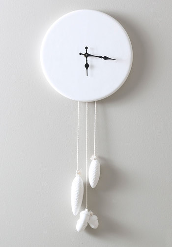 Pine of My Life Wall Clock by IMM Living - White, Black, Vintage Inspired, Dorm Decor, Minimal