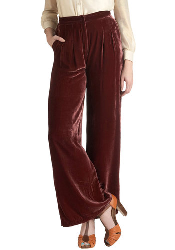 Glassblowing Class Pants - Brown, Solid, Long, Boho, Winter