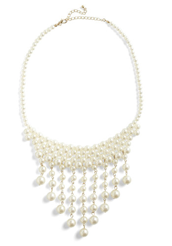 You Go, Pearl! Necklace - White, Pearls, Party, Luxe, Statement