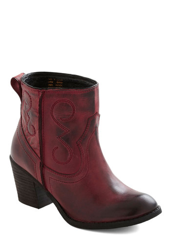 Everywhere I Go Boot by Seychelles - Red, Solid, Mid, Leather, Casual, Tis the Season Sale
