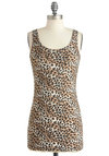 Throw in the Prowl Tank - Multi, Brown, Tan / Cream, Animal Print, Casual, Tank top (2 thick straps), Urban, Long