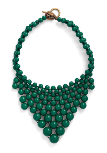 Just Bead Yourself Necklace in Forest - Green, Solid, Beads, Statement, Party, Casual