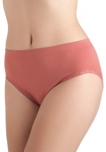 Rise With the Sun Undies - Pink, Solid, Lace, Trim, Seamless, Vintage Inspired