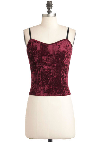 Fest Dressed Top - Red, Black, Solid, Spaghetti Straps, Holiday Party, Short