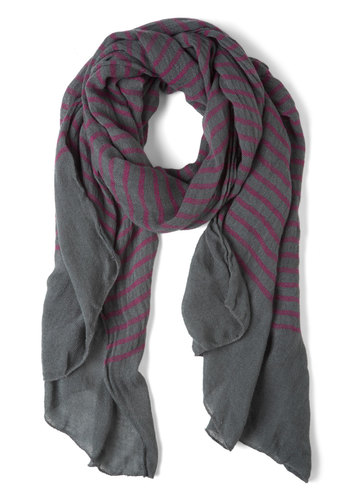 Puddle Jump for Joy Scarf - Stripes, Purple, Grey