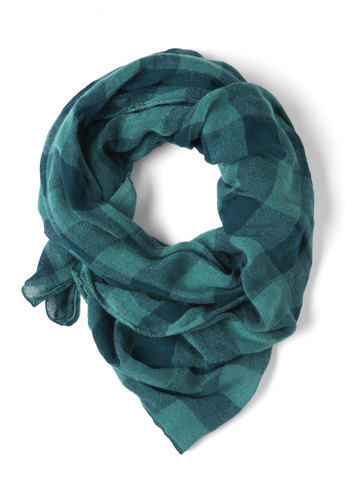 Plaid by the Rules Scarf - Blue, Plaid, Casual, Tis the Season Sale