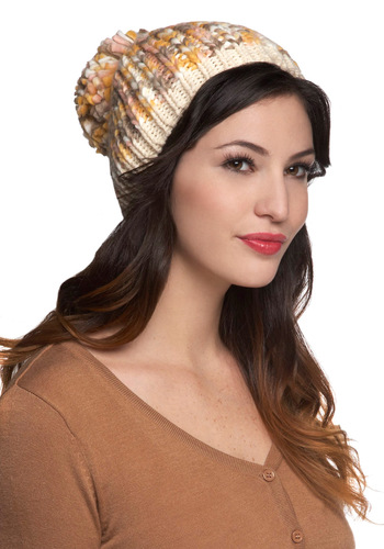 The Pom-Pom Club Hat in Cream - Tan, Knitted, Poms, Winter, Casual