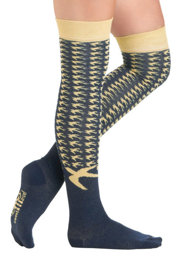 Trill Next Time Socks - Blue, Tan / Cream, Print with Animals, Casual, Scholastic/Collegiate, Fall