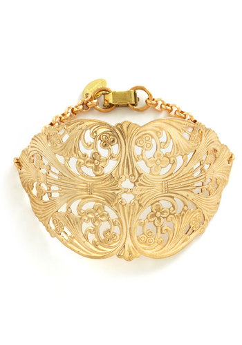 Fili-greet the Day Bracelet - Gold, Solid, French / Victorian, Party, Vintage Inspired
