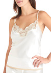 Luxurious Lounging Sleep Top - White, Solid, Lace, Wedding
