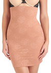 Framework It, Girl Contouring Half Slip in Mauve - Tan, Solid, Lace, Seamless, Pinup, Vintage Inspired, Variation, Lace
