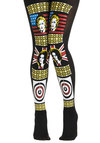 Street Style Celeb Tights by Look From London - Black, Multi, Novelty Print, Sheer