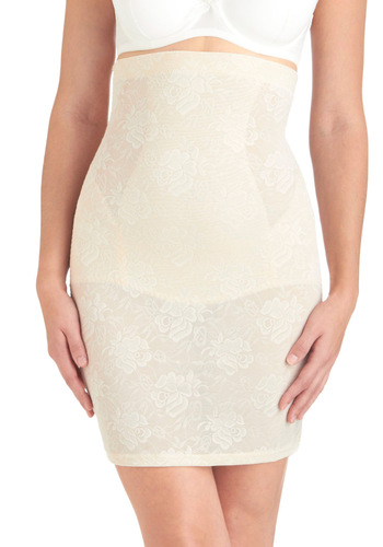 Framework It, Girl Contouring Half Slip in Pearl - Cream, Solid, Lace, Seamless, Pinup, Vintage Inspired, Variation, Lace, Best Seller, Press Placement